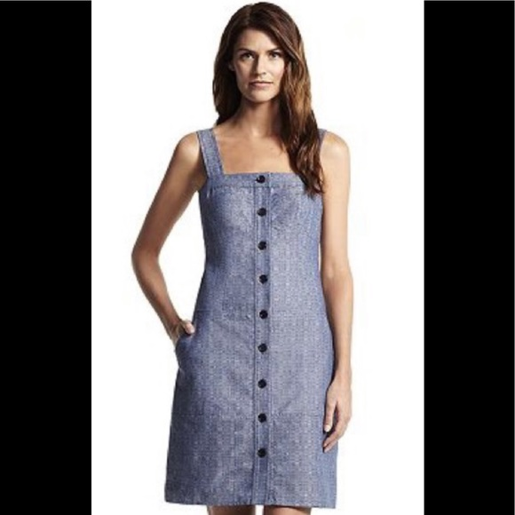Derek Lam Dresses & Skirts - Sleeveless Organic Cotton Chambray Dress K1608